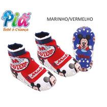 Meia Com Solado Mickey Disney Fortex