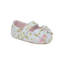 Sapatinha Infantil Floral Azul E Rosa - Calçados Babyi