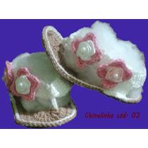 Sandalinha E Sapatinho De Croche Para Bebe