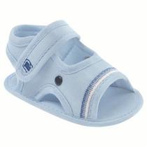 Sandália Azul Bebê Com Velcro - Pimpolho