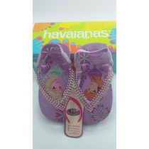 Chinelos Havaianas Decorados Custumizados Frozen Bebe