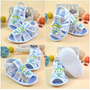 Sandália De Bebê Pano Antiderrapante Importada Sapato Tenis