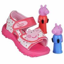 Sandalia Infantil Papete Grendene Baby Peppa Pig Ou George