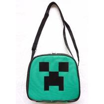 Lancheira Minecraft Creeper Termica Infantil