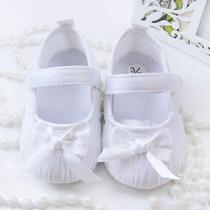 Sapatinho De Bebe Menina Branco Batizado