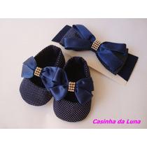 Kit Sapatinho Com Faixa De Cabelo Para Bebês (feminino)