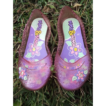 Sapato Sapatinho Para Bebês De Plástico Com Florzinha 20