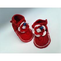 A 192 Sapatinho De Croche Feminino Sandalia Bebe Menina