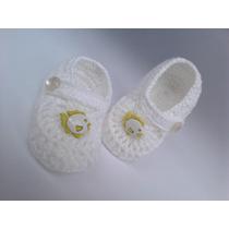 A 88 Sapatinho De Croche Masculino 8,5cm Bebe Enxoval Menino