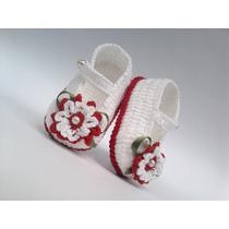 A63 Sapatinhos De Croche Varias Cores Infantil Bebe Menina
