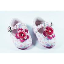 Sapatilha Boneca Pimpopé Baby Flores - Rosa/ Branco - 950...