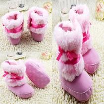 Tênis Sapato Bota Para Bebê Menina 2 A 6 Meses Importada