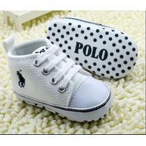 Tênis Bêbe Polo Infantil Bebê Menino Sapato Pronta Entrega