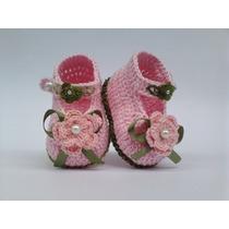 A62 Sapatinhos De Croche Varias Cores Infantil Bebe Menina
