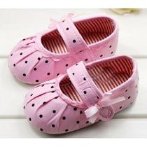 Sapato Sapatinho Bebê Menina Importado No Brasil Poá Rosa