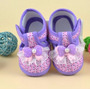 Sapatinho Bebê Menina Maternidade Sapato Lilás Recém Nascido