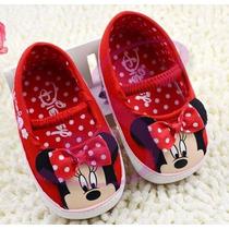 Sapatinho Disney Minnie Importado Bebê Menina Pronta Entrega