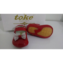 Sapatilha Baby Vermelha Couro - Toke