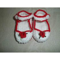Sapatinho Tipo Boneca Em Croche