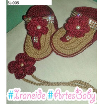 Sapatinhos E Sandálias De Crochê Para Bebê + Lacinho