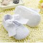 Sapatinho De Bebe Menina Batizado Branco Lacinho
