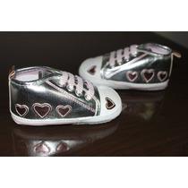 Sapato Bebê Sapatinho - Menina Coração Importado