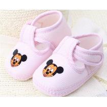 Sapato Sapatinho Bebê Mickey Maternidade Rosa Recém Nascido