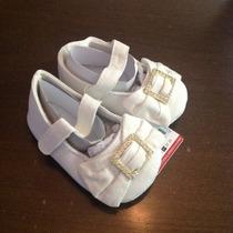 Sapatinho De Menina Branco - Zara Baby - 074, 076 E 082