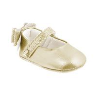Sapatinho Infantil Bebê Menina Dourado Pampili Nina