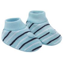 Sapatinho Nenêm Listrado Azul- Pimpolho