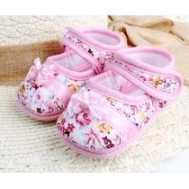 Sapatinho Bebe Menina Rosa Importado Luxo Confortavel Leve