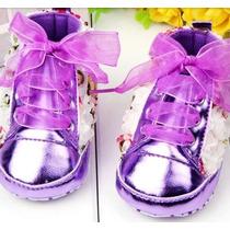 Sapato Bebê Lilás Batizado Feminin- Sapatinho Festa +brinde