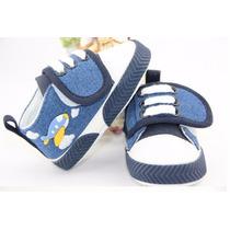 Tênis Bebê Azul Nave Espacial + Babador Impermeável D Brinde