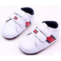 Tenis De Bebê Sapatinho Infantil Menino Branco