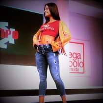 Calça Jeans Feminina Cropped Hot Pants Biotipo Com Elastano.