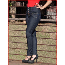 Calça Feminina Hot Azul Modela Cintura Alta Bumbum Preta 786