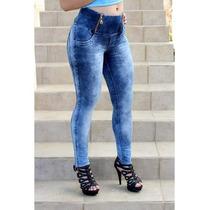 Calça Jeans Edex Com Ziper Cós Alto!!!