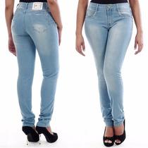 Sawary Calça Jeans Feminina Levanta Bumbum Com Lycra Pitbull