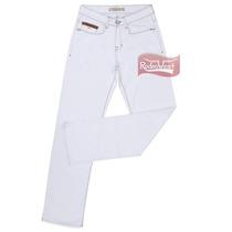 Calça Jeans Masculina Straight Branca Com Elastano - Tassa