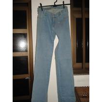 Calça Jeans C/ Brilhos / Elastano Da Hamuche Tam 44