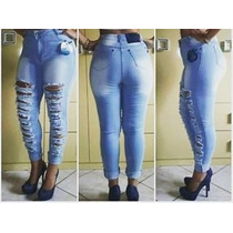 Calça Jeans Hot Pants Disco Pant Destroyed Levanta Bumbum
