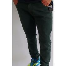Calça Masculina Jeans Patrão Jean$ Green Military Colorida