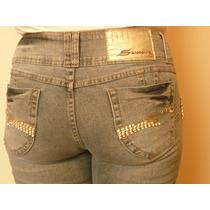 Calça Jeans Skinny Sawary Sabrina Sato, Estrass Lycra Tam 44