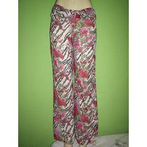 Calça Pantalona Estampa Floral Tamanho 42