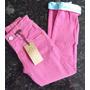 Calça Pink Com Detalhe Na Barra - Ser Garota