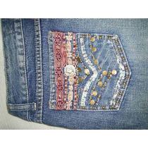 Calça Jeans Bebela Bordada Tamanho 42