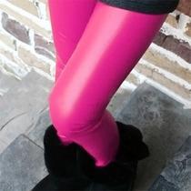Legging Importada - Cirré - Brilhante - Imita P U - Pink