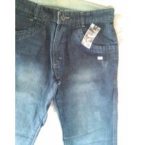 Calça Masculina Jeans Lavado Azul Marinho Via Estilo