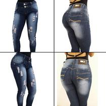 Calça Jeans Cintura Alta - Detalhes Desfiados