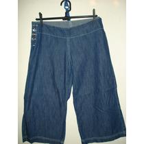 Calça Jeans Da Dhor Rio C/ Botoes Estrela Em Strass Tam 40